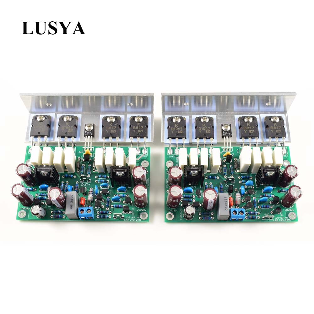 Lusya 2pcs HI-END L20 VER 10 Stero Power Amplifier Finished Board 200W 8R With Angle Aluminum D2-011