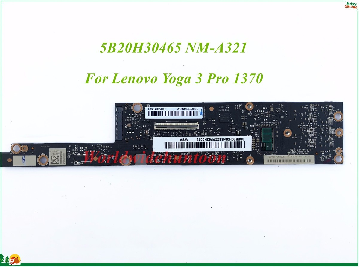 High Quality MB 5B20H30465 For Lenovo Yoga 3 Pro 1370 Laptop Motherboard AIUU2 NM-A321 W8P 100% Tested&Testing Video Support