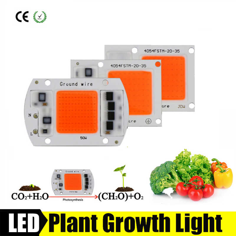 Full Spectrum 380nm~780nm Led Grow Light Chip 20W 30W 50W 220V 230V Best for Hydroponics Greenhouse Grow DIY for LED Growth Lamp