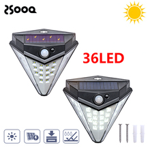 32Leds Outdoor Garden Solar Lamp PIR Motion Sensor Solar Powered Diamond Shape LED Yard Wall Light Outdoor Night Light LSL139