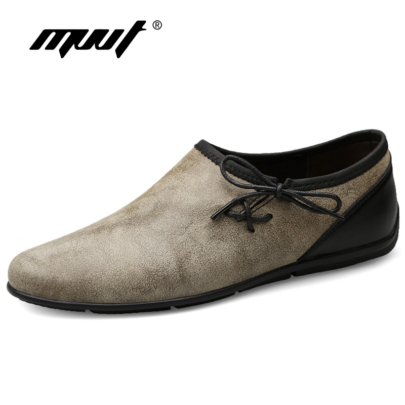 MVVT Plus Size Suede Men Loafers Supper Soft Genuine Leather Men Casual Shoes Light Weight Men Shoes Summer Moccasins