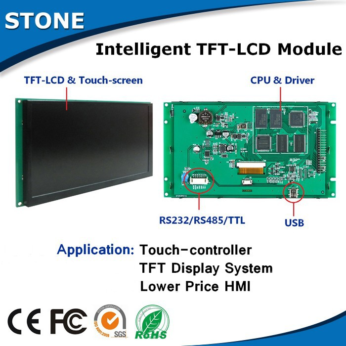10.1 Inch  HMI TFT LCD Module With RS232 Display And Good Quality