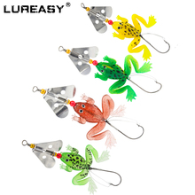 4pcs LUREASY fishing lure frog 8CM 12.5G rubber soft bait  frog fishing boat fishing shallow sea fishing gear 1pcs soft rubber frog fishing lure bass crankbait 3d eye simulation frog spinner spoon bait 8cm 6g fishing tackle accessories