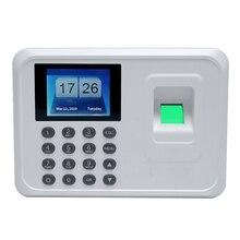 A5 2.4in биометрический отпечаток пальца пробойник времени часы офис посещаемость рекордер сотрудников записывающее устройство электронная машина