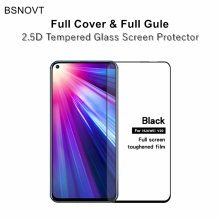 2pcs Full Cover & Glue Screen Protector For Huawei Honor View 20 Glass Coverage Tempered Phone V20