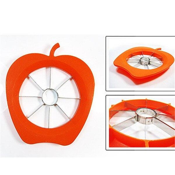 Cuchillo de Apple corers fruta máquina de cortar de Apple forma 14 * 14 cm ABS +