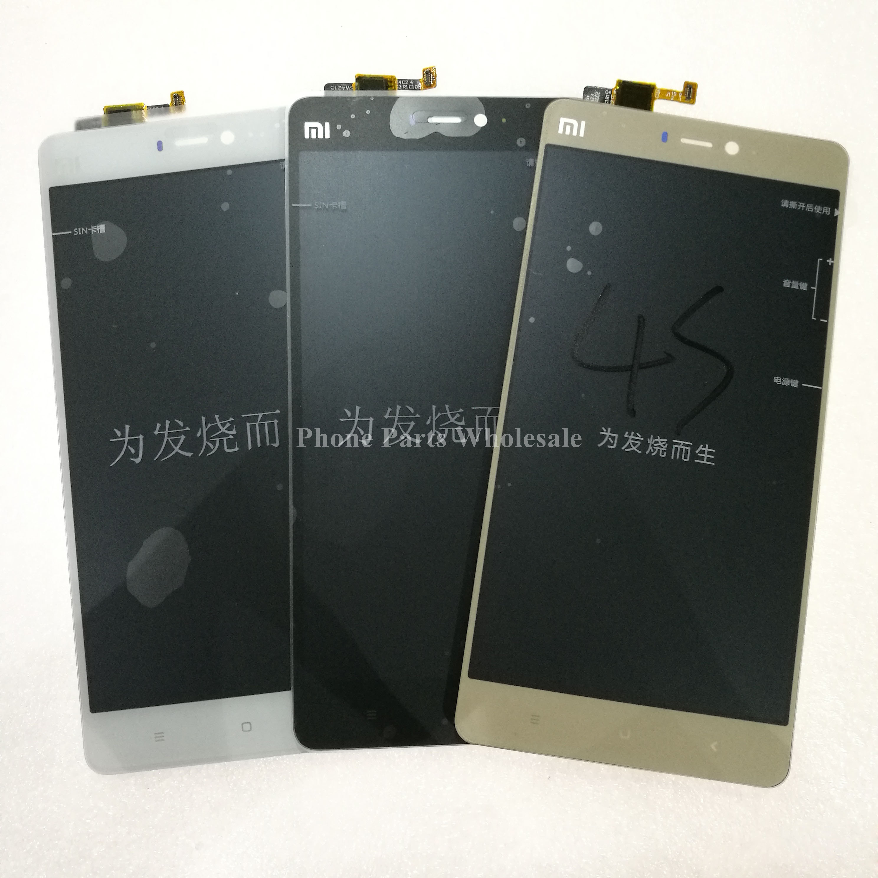 ФОТО Tested Working LCD Display +Touch Screen Digitizer Panel 5.0inch For Xiaomi Mi 4s MI4S Mobile Phone Repair Parts