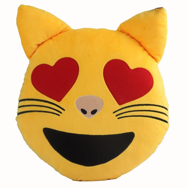 2016 New Arrival 32cm Whatsapp Cat Emoji Pillow Kitty Emoticon Cushion Stuffed Animal Plush Toy
