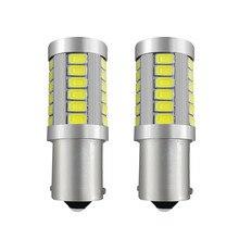 Световой сигнал 1156 p21w светодио дный canbus BA15S светодио дный стоп-сигналы 12 В автореверса лампа Тормозная поворотник днем ходовые огни белый