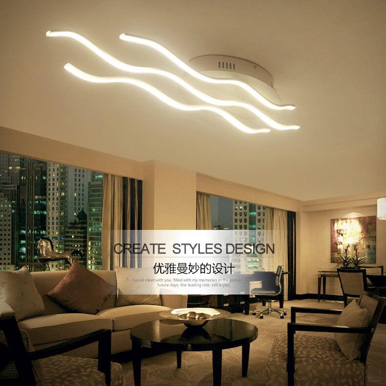 Top Sale Wave Design Modern Acrylic Led Ceiling Light For