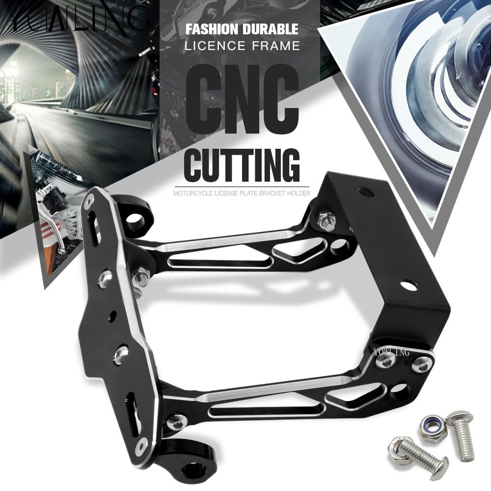 Motocicleta CNC aluminio Marcos de matrícula soporte de matrícula ...
