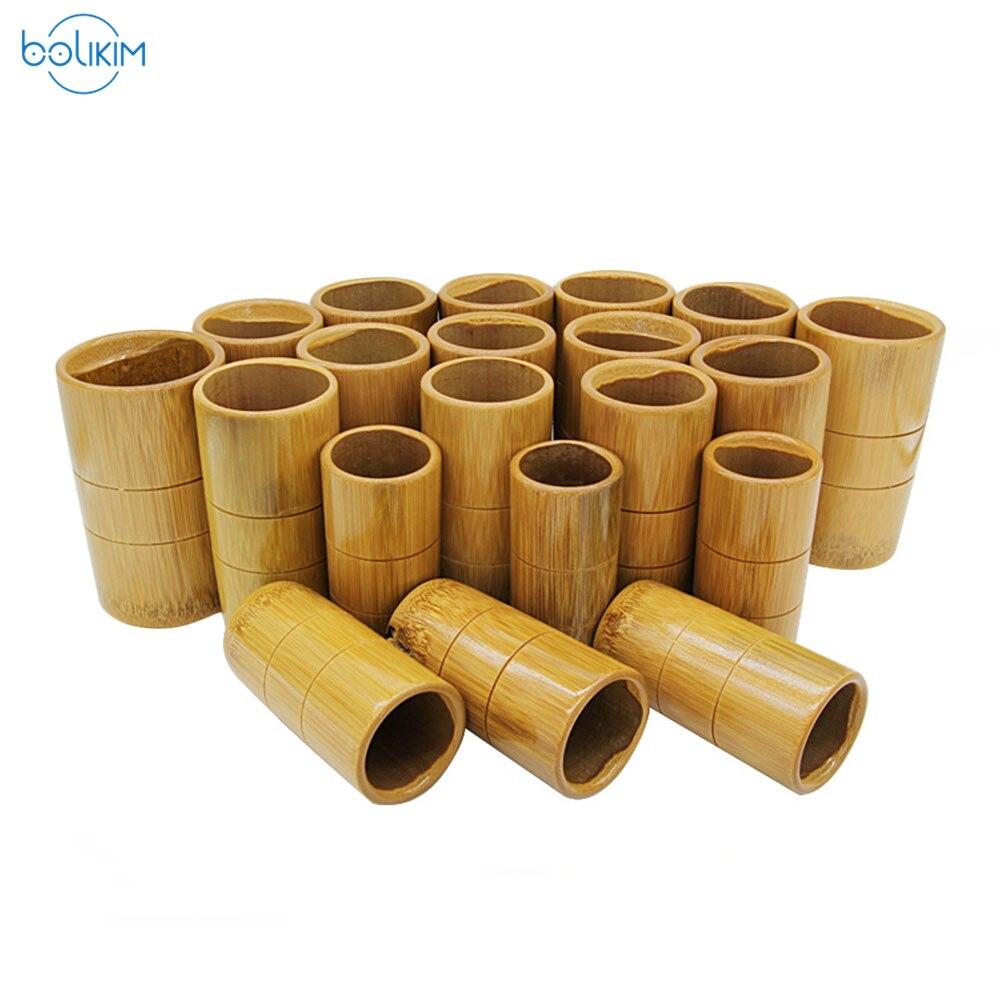 BOLIKIM Tube d'aspiration en bois naturel bambou dispositif de ventouses en bambou boîtes de ventouses sous vide Massage livraison directe