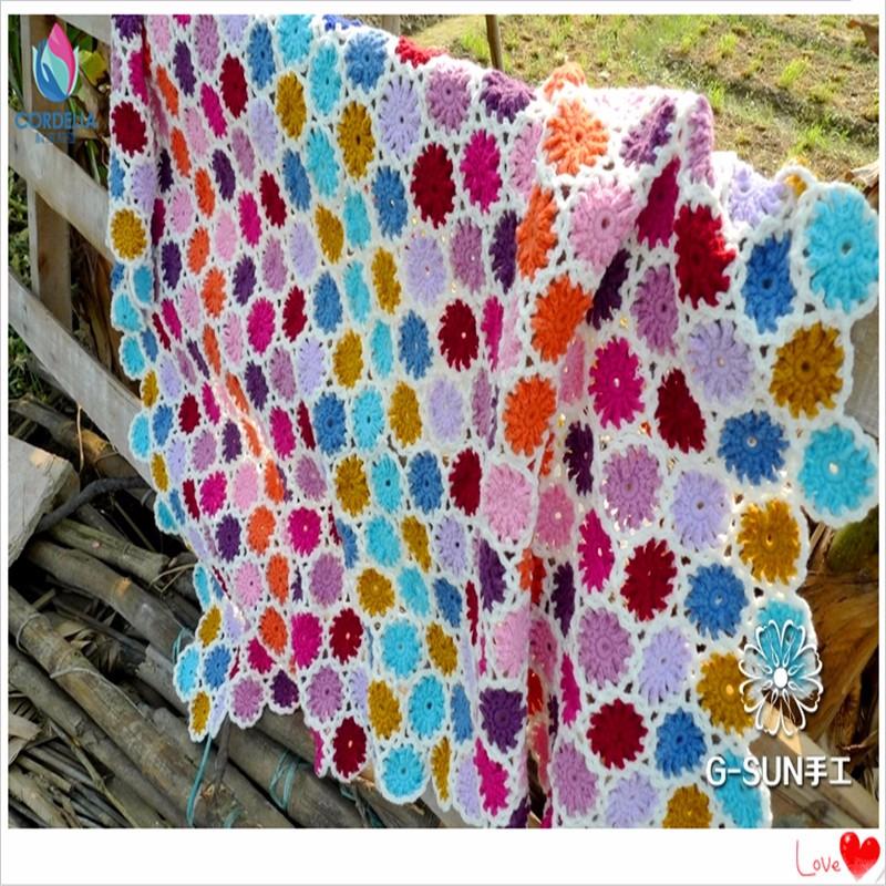Envío libre algodón colorido lana ganchillo hecho a mano de ...