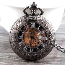 Уникальные Ретро Бронзовый Классический Элегантный Рука Ветер Нежный Механические Карманные Часы Мужчины Женщины Подарки