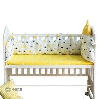 5 шт. набор постельных принадлежностей для малышей Комплект детской кроватки для новорожденных мальчиков и девочек детская кроватка вокруг