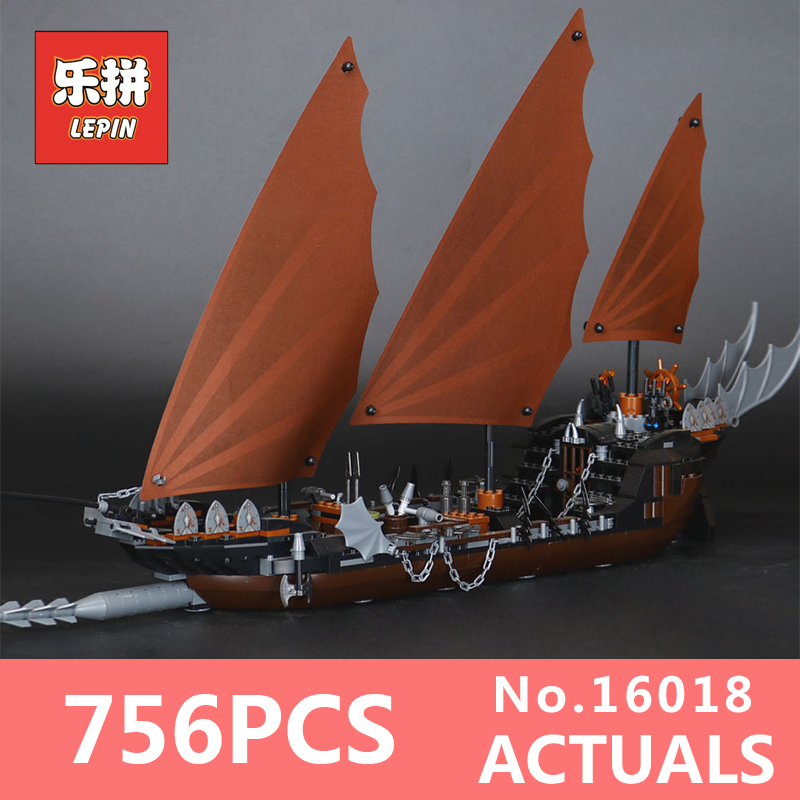 Lepin 16018 806Pcs Genuine The lord of rings Series The Ghost Pirate Ship Set Building Block Brick Toys Model LegoINGlys 79008 lepin 22001 pirate ship imperial warships model building block briks toys gift 1717pcs compatible legoed 10210