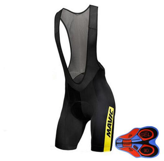 Pro Team Mavic 2017 New Cycling 9D GEL Pad Bib Shorts MTB Quick Dry Breathable Padded Sport Bike Wear Bicycle Lycra