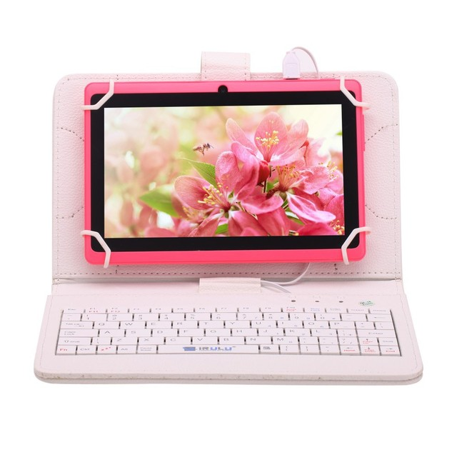 iRULU eXpro X1 7 » Tablet Allwinner Quad Core Android 4.4 Tablet Dual Cameras 8G ROM support WiFi OTG HOT Seller w/EN Keyboard