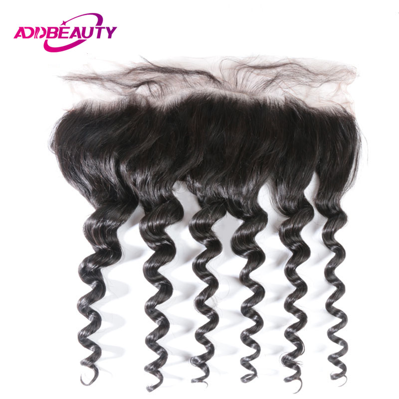13x4 Lace Frontal Closure Brazilian Unprocessed Virgin Human Hair Ear To Ear Pre Plucked Natural Wave Color 130% Density