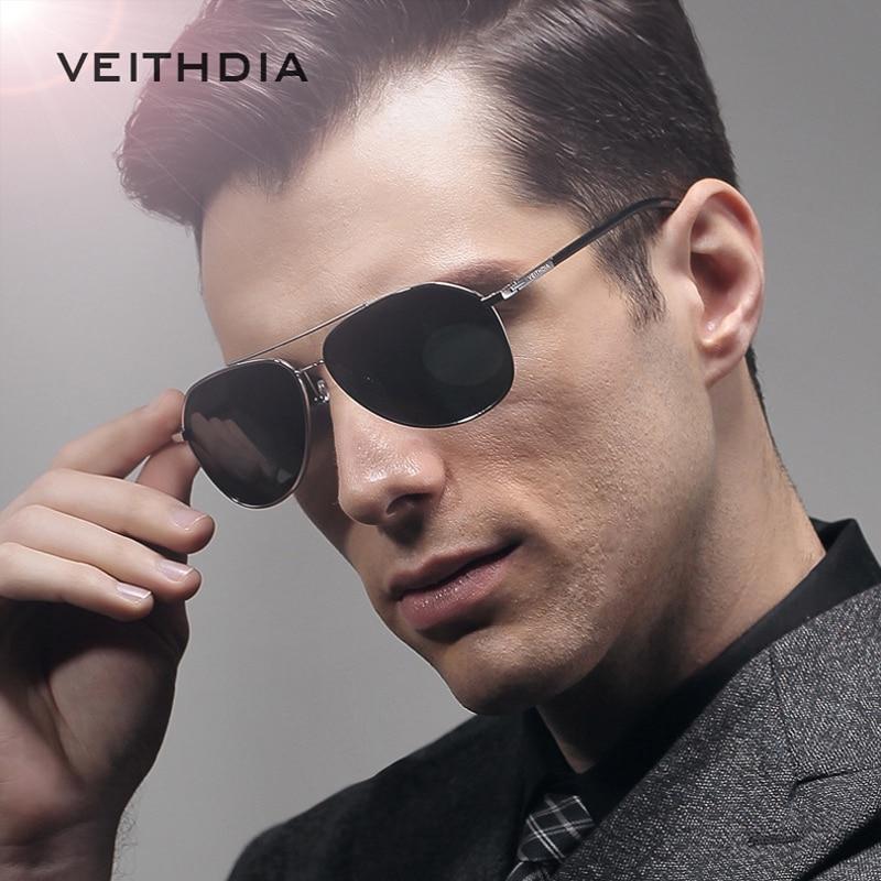 VEITHDIA Marque de Lunettes De Soleil Polarisées Hommes 6 Couleur  Revêtement Miroir Lunettes de Soleil oculos Homme Lunettes Accessoires  Oculos de sol 2366 fcf3183d3a1f