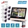 ANRAN CCTV Plug Play 4CH 1080P 12 Inch LCD NVR POE Home Security System 36 IR