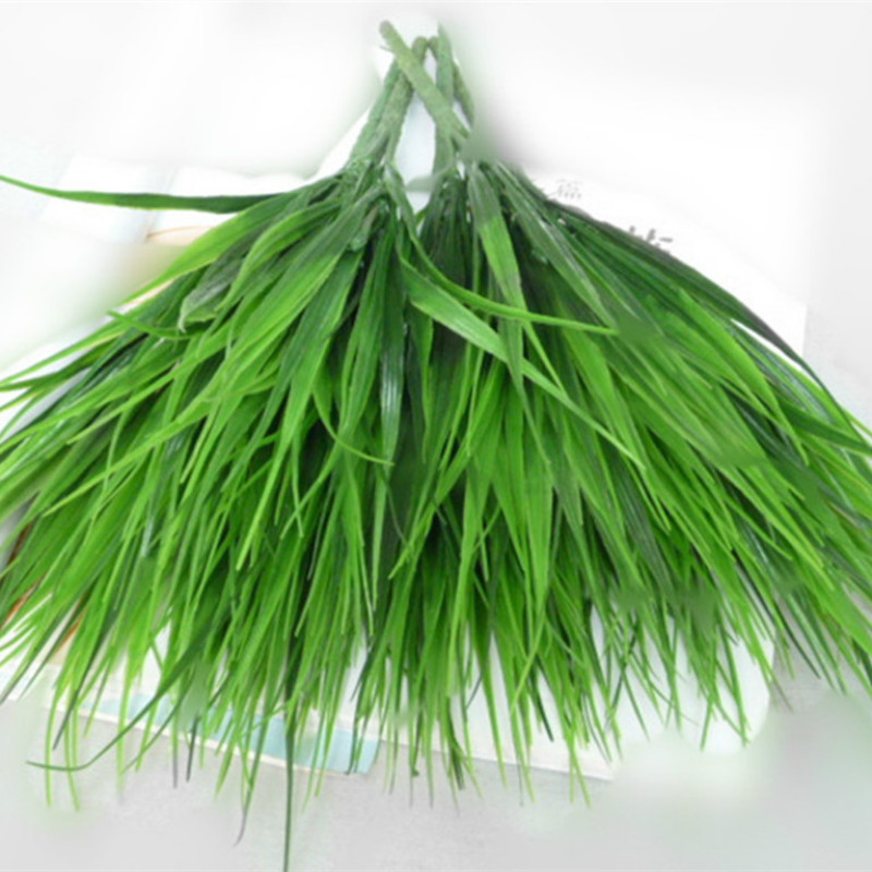 7-fork Green Imitation Plastic Artificial Grass Leaves Plant For  Engagement Wedding Home Decoration Clover Plants Table Decors