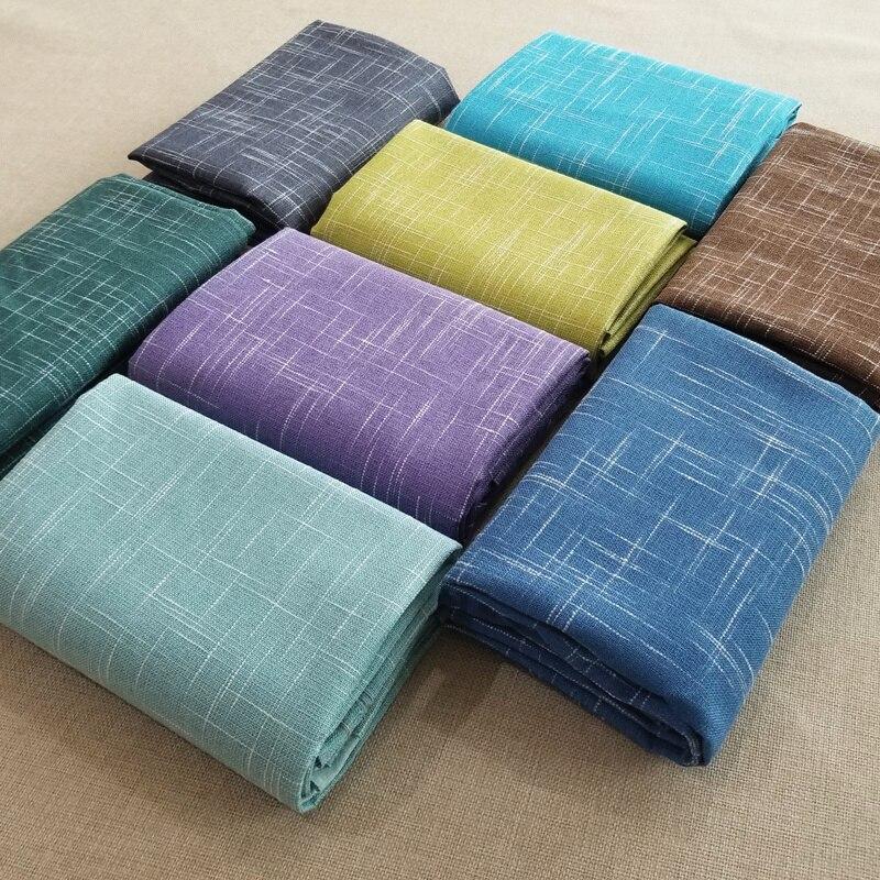 High-grade linen cotton sofa fabric plain cross texture bamboo hemp polyester