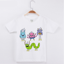 T Shirt For Girl Children Clothing Boy Tshirt Cotton O-Neck Funny Kids T-Shirt Cartoon Monster Printed Short Sleeve Tops Tees все цены