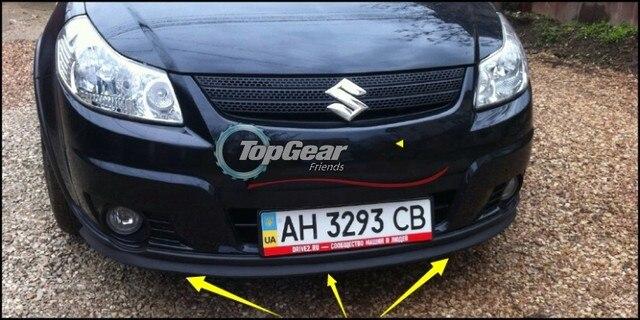 Bumper Lip Deflector Lips For Suzuki SX4 SX 4 Neo Baleno Front Spoiler Skirt TopGear Car Tuning View Body Kit Strip