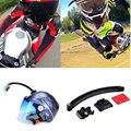 Para Go pro Acessórios de Montagem Da Motocicleta Capacete de Ciclismo Extensão Braço + fivela + 3 m etiqueta para gopro hero 1 2 3 sj4000 SJ6000