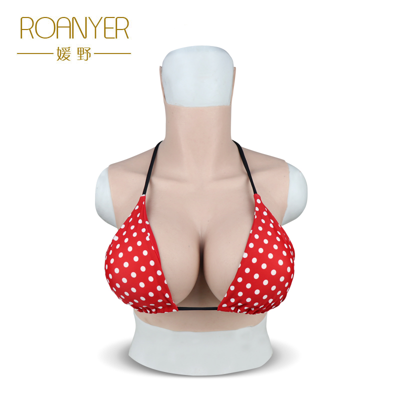 Roanyer silicone large fake Boobs G Cup for transgender shemale False pechos crossdresser breast forms drag queen men to female 1200g dd cup boobs for drag shemale transgender prosthetic breasts cups for dresses silicone fake breast