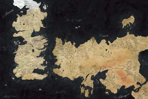 Map Game Of Thrones World View Westeros   Essos Silk Poster Art Bedroom  Decoration 0787. Online Buy Wholesale westeros map from China westeros map