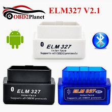 New Arrival Super Mini ELM327 Bluetooth V2 1 OBD2 Mini Elm 327 Car Diagnostic Scanner Tool