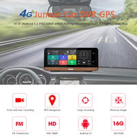 7.80 Inch Dash Camera Car DVR 4G Supported Plus Android 5.1 GPS Navigator Registrar Video Dash Cam Recorder with Two Cameras