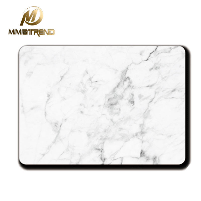 Mimiatrend White Marble Grain Sticker Vinyl Film for Apple