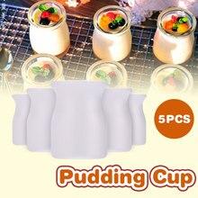 Чашки для пудинга емкость для смузи одноразовый салат 5 шт. пластиковые экологические чашки для десерта удобный мороженое