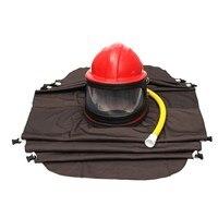 Abrasivos Granallado Limpieza Casco de Chorro de Arena Ropa de Protección Con Tubo De ropa de seguridad