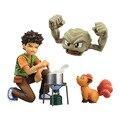 """O Envio gratuito de 4 """"monstro Anime Brock Takeshi & Geodude & Vulpix Encaixotado 10 cm Ação PVC Figura Coleção Modelo Boneca de Brinquedo de Presente"""