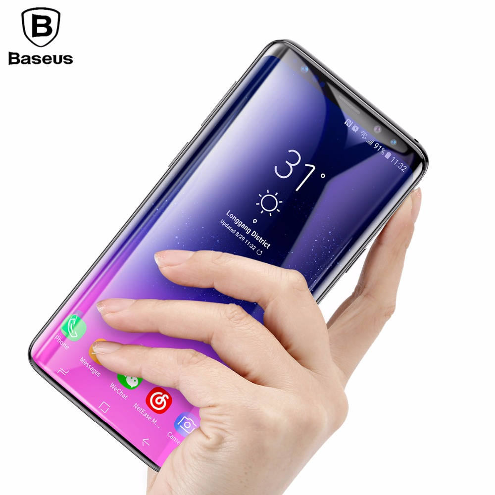 Baseus 3D Screen Protector Tempered Glass For Samsung Galaxy S9 S9 Plus Full Cover Toughened Protective Glass Film For Galaxy S9