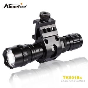 Image 2 - AloneFire 501B 5W אינפרא אדום IR 850nm פנס LED ראיית לילה פלאש אור לפיד ציד FlashLamp פנס