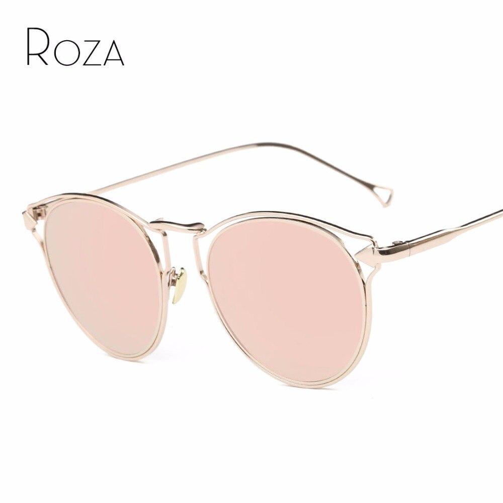 ROZA lunettes de Soleil Femmes Creux Vintage Steampunk Revêtement Objectif  Concepteur de Marque Décoratif Flèche Lunettes de Soleil UV400 QC0460 db637e4a4d13