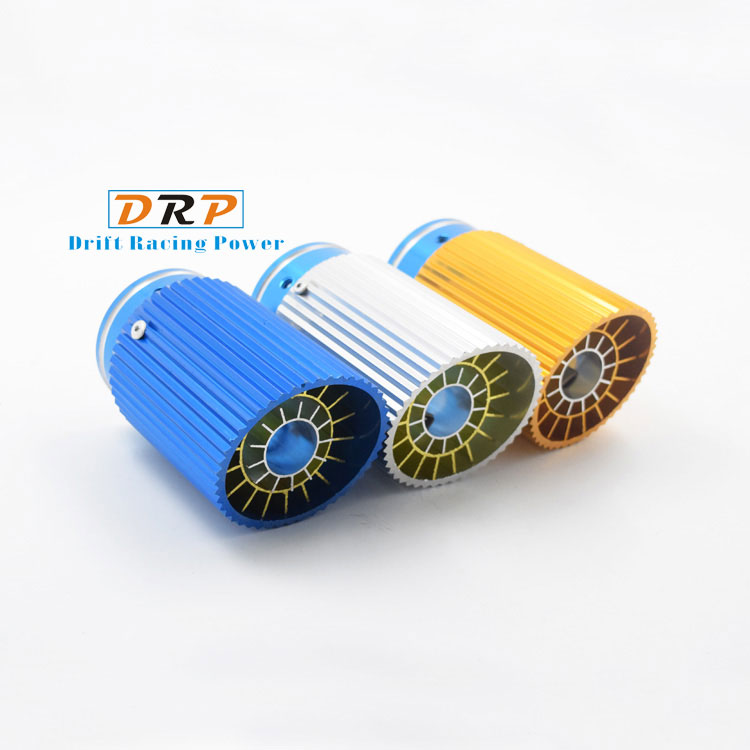Hot! Hot Selling the universal type of stainless steel car rear exhaust muffler tips with three colors:blue,yellow and white