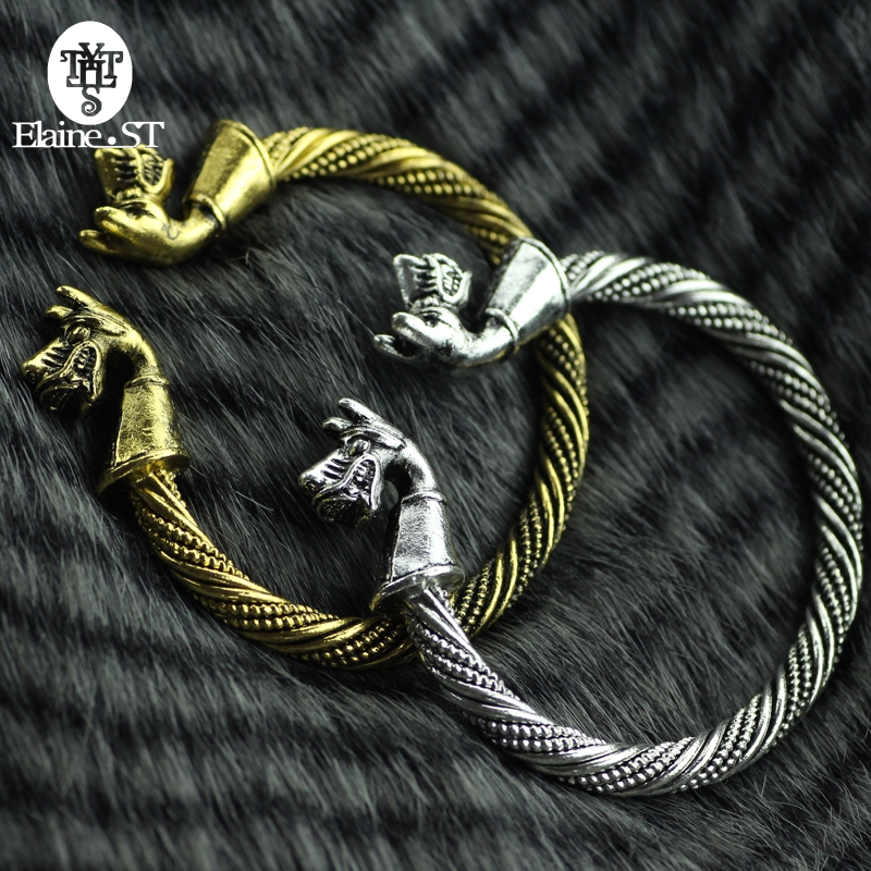 Competent Mens Womens Bracelet Viking Teen Wolf Fenrir Cuff Bangle&bracelet Men Jewelry And Accessories Can Drop Shipping Making Things Convenient For The People Bracelets & Bangles