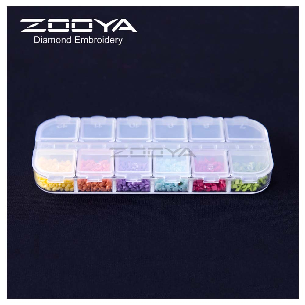 Image 4 - ZOOYA Diamond Painting Tools Accessory Beads Container Diamond Embroidery Stone Storage Box for jewelry Mosaic Convenience T006-in DIY Craft Storage from Home & Garden