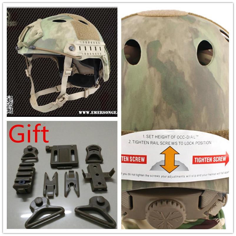 EMERSON FAST Helmet PJ TYPE airsoft helmet Pararescue Jump Helmet ATFG EM5668G emerson airsoft tactical fast protective helmet pararescue jump pj type kryptek mandrake em5668i
