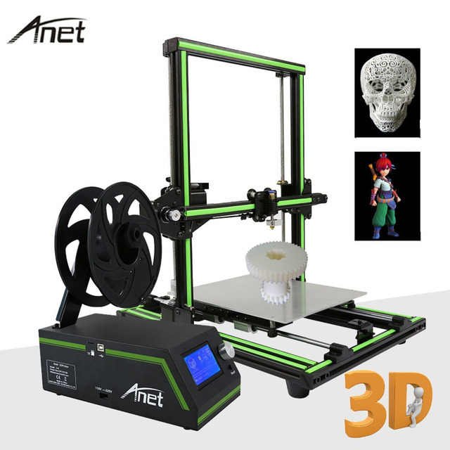 LCD Display Professional 3D Printer High Precision Aluminum Alloy Frame Large Printing Size DIY 3D Printer Kit 2