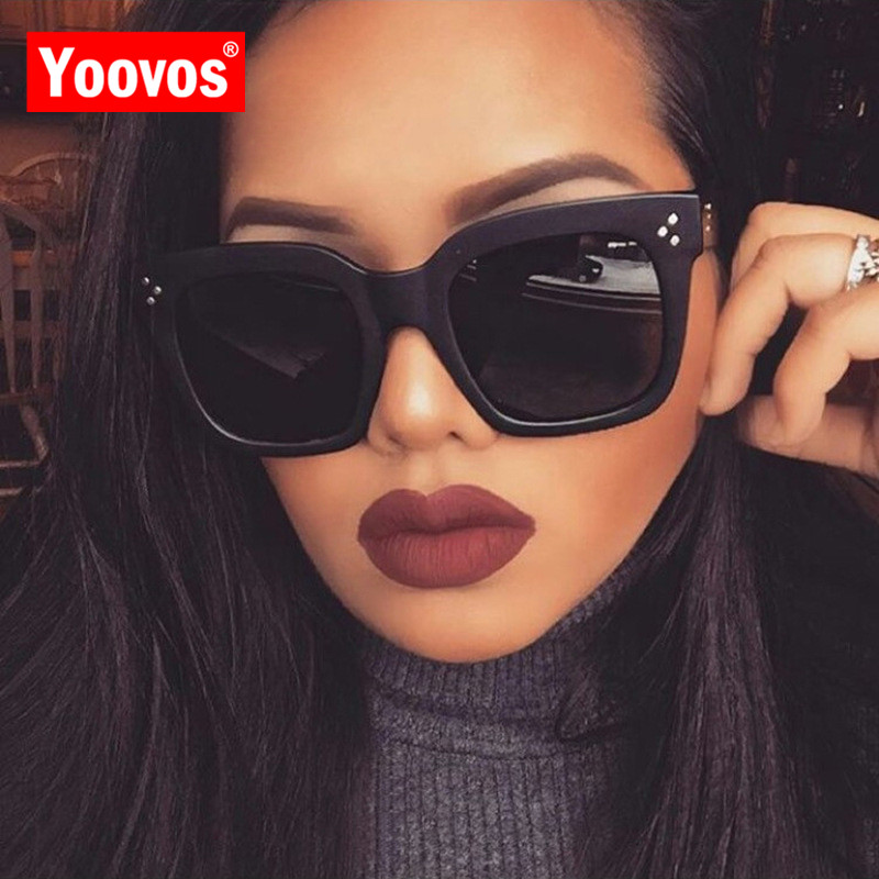 Yoovos 2019 New Square Sunglasses Women Brand Designer Retro Mirror Fashion Sun Glasses Vintage Shades Lunette De Soleil Femme