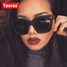 Yoovos 2019 New Square Sunglasses Women Brand Designer Retro