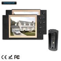 HOMSECUR 8 Видеодомофон Система Телефонного Звонка + LCD Цветной Экран для Дома/Квартиры TC041 + TM801 B