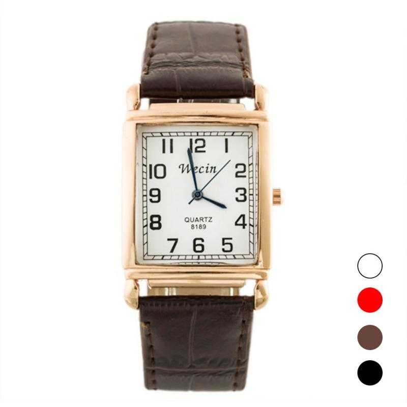 Fashion Lover watches Men Woman Quartz Business Wristwatch Gift Leather Couple Casual Clock Luxury Square Dial D40 fashion leather watches for women analog watches elegant casual major wristwatch clock small dial mini hot sale wholesale